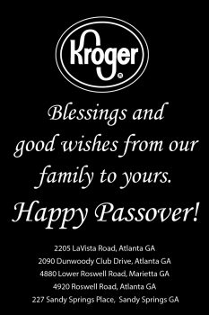 Kroger Passover 2020 INSIDE FRONT COVER